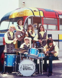 The Partridge Family and their famous Mondrian-inspired bus!
