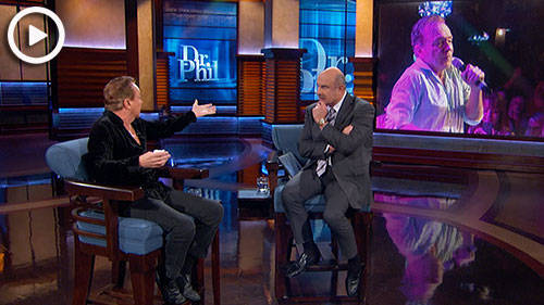 David Cassidy on Dr. Phil, March 1, 2017. (See link below. This is only a photo).