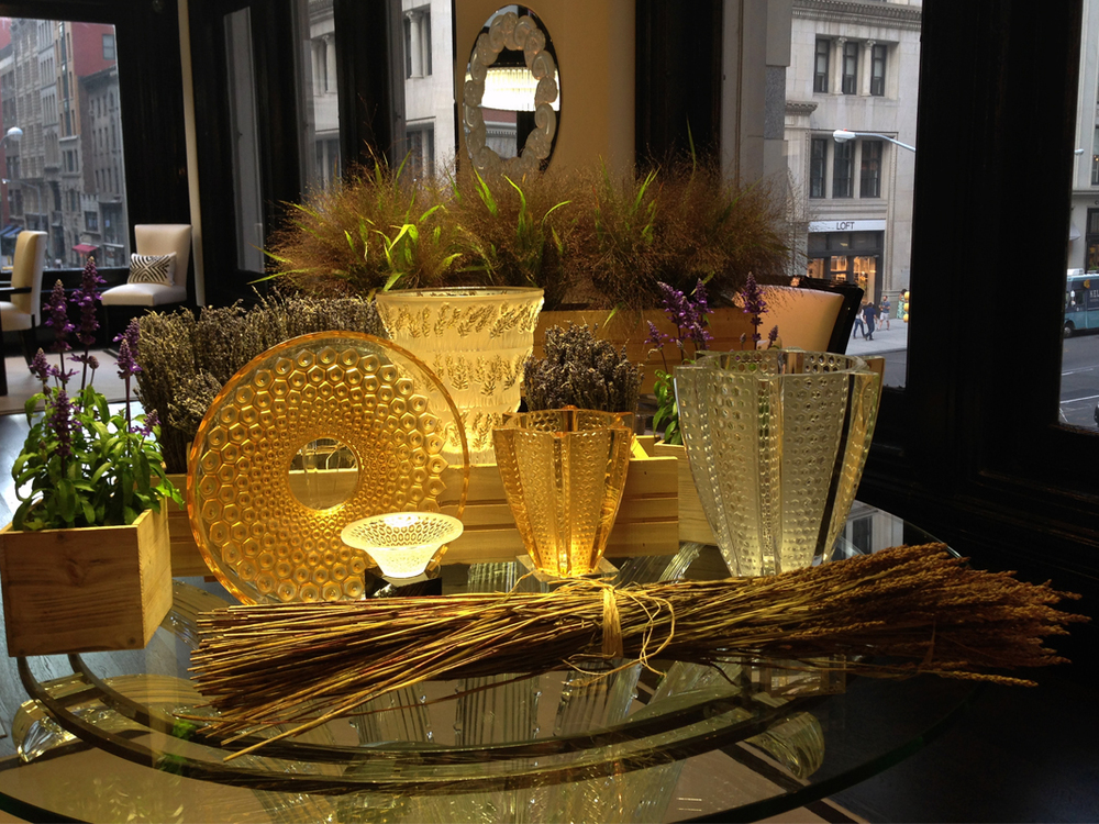 Provence setup at Lalique Showroom