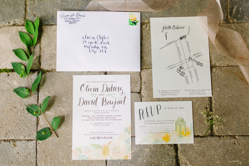 A Rustic Garden Wedding Invite Suite for Olivia and David — Daughter ...
