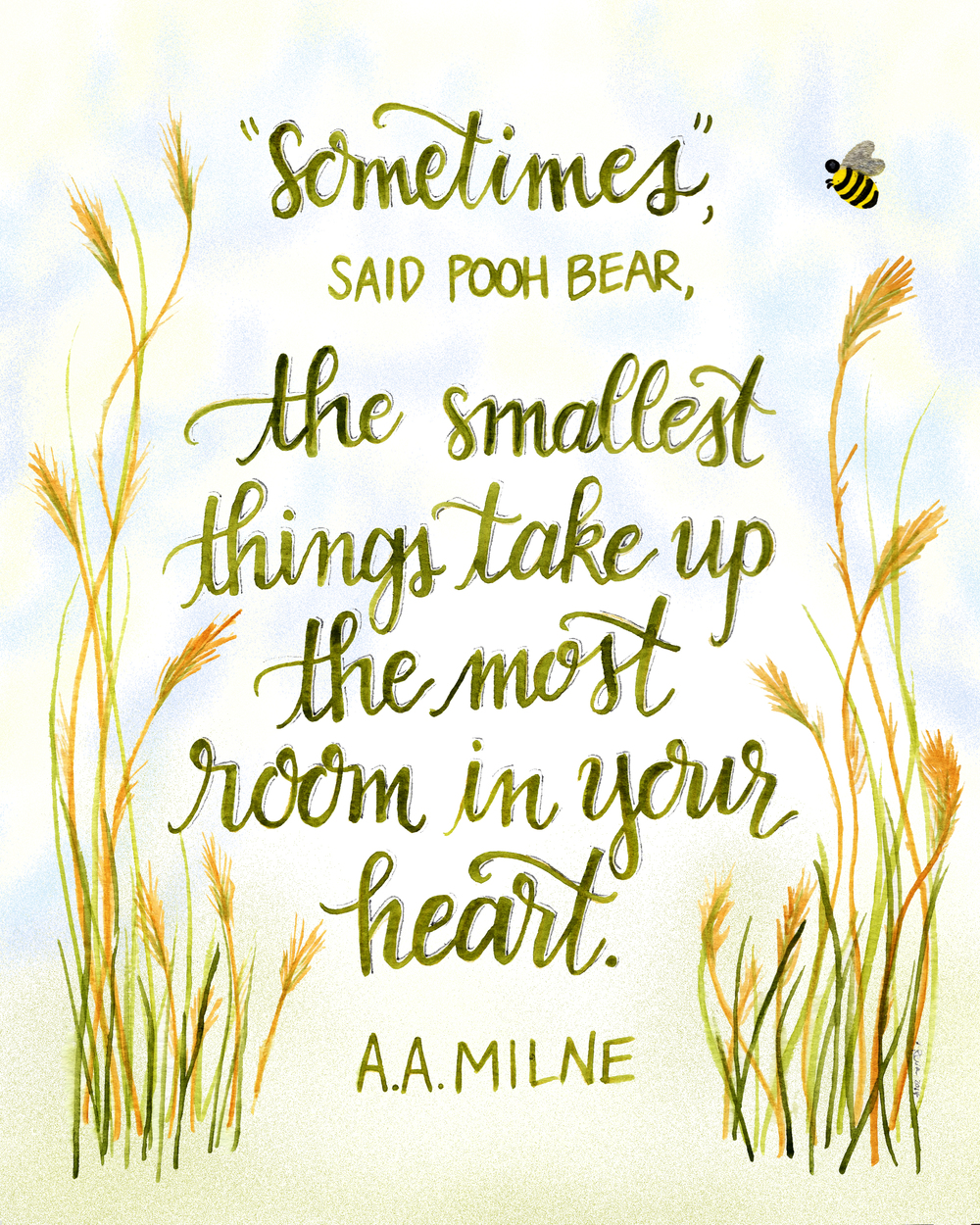 winnie the pooh smallest things