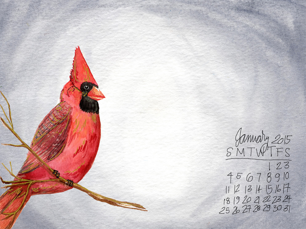 january free desktop calendar