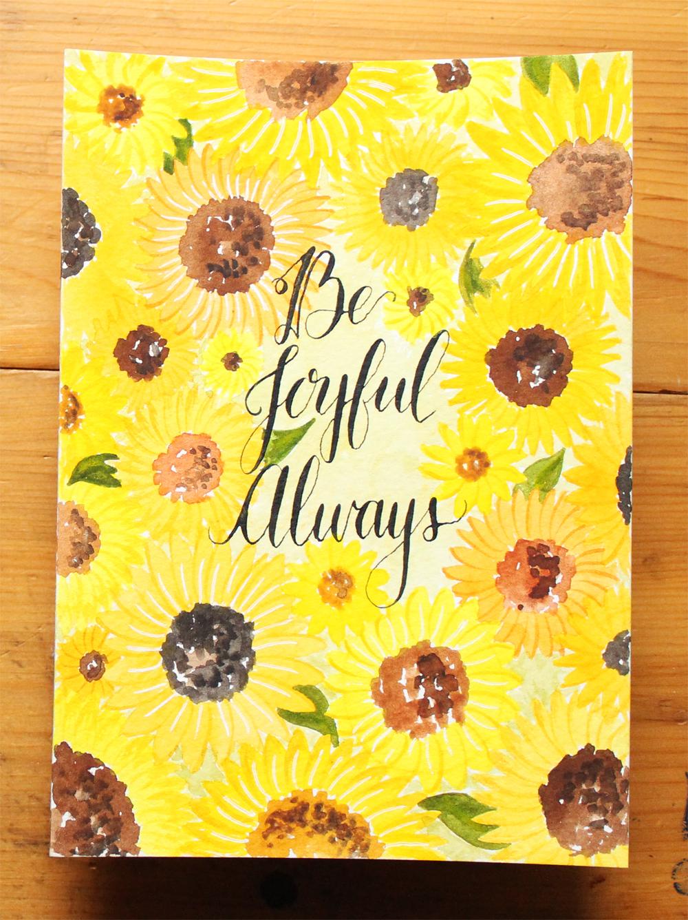 be joyful always sunflowers