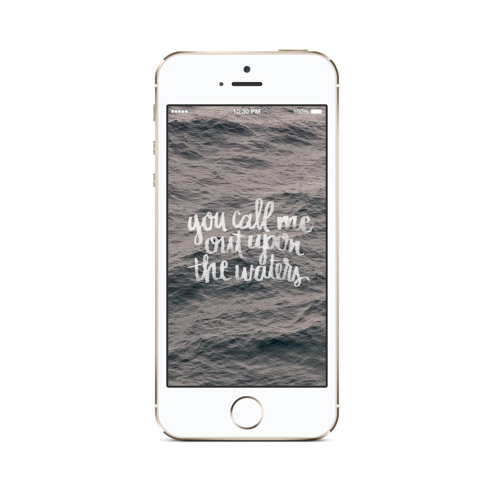oceans wallpaper phone mockup