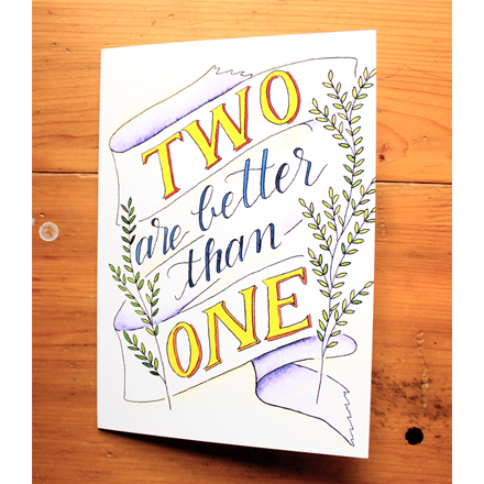 New Wedding Card in the Etsy Shop!