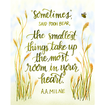 New Prints! Winnie the Pooh - Smallest Things