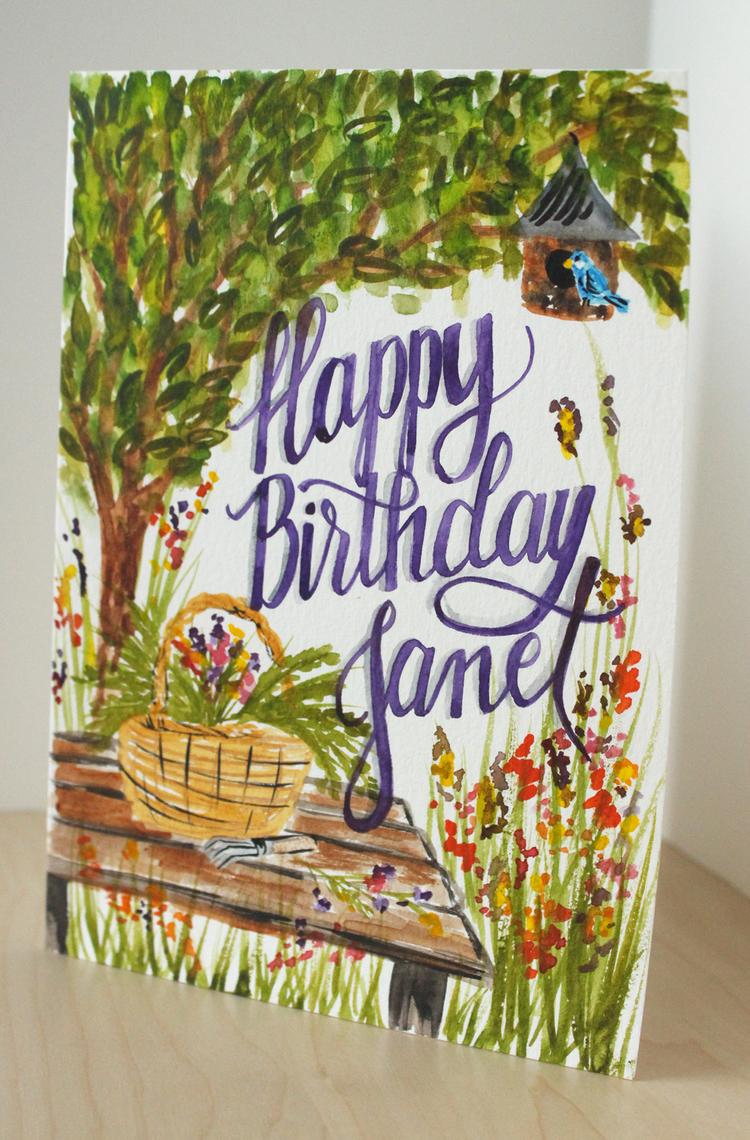 Happy birthday three custom birthday cards daughter zion designs happy birthday garden bookmarktalkfo Gallery