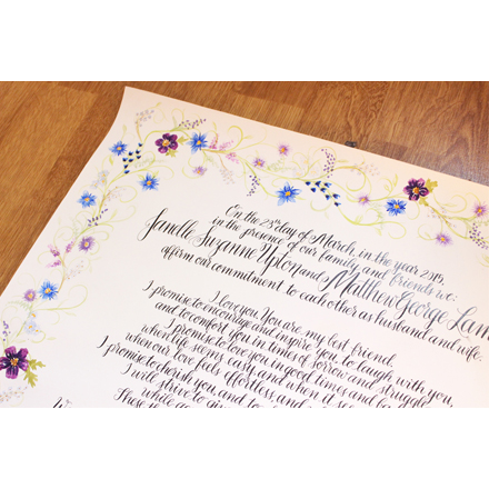 Wedding Vows - Custom Order