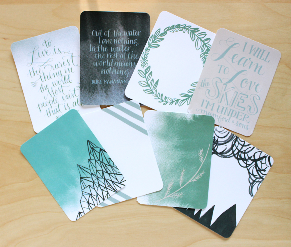 Project Life 3x4 cards - Journaling Cards - by Daughter Zion Designs