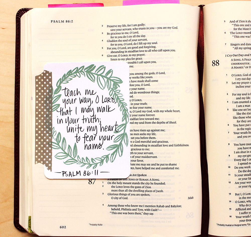 journaling 3x4 card - bible insert - by Daughter Zion Designs