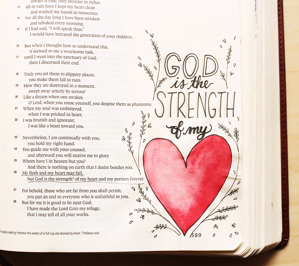 Strength of My Heart -  Illustrated Faith by Daughter Zion Designs