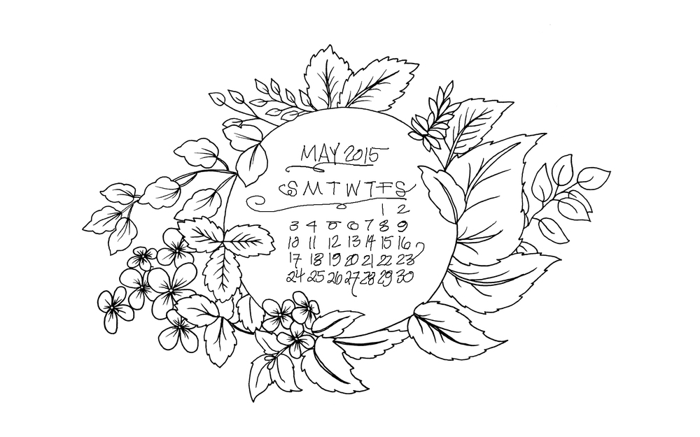 Daughter Zion Designs May Desktop Calendar Wallpaper