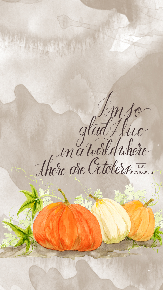 October Phone Wallpaper - Free Download - By Daughter Zion Designs