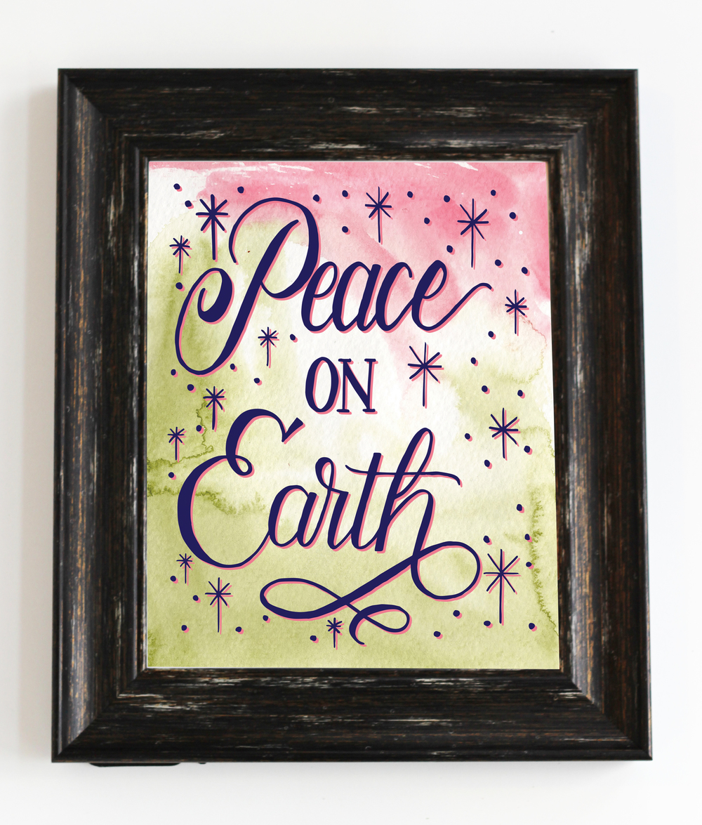 Peace on Earth - Digital Download Print by Daughter Zion Designs