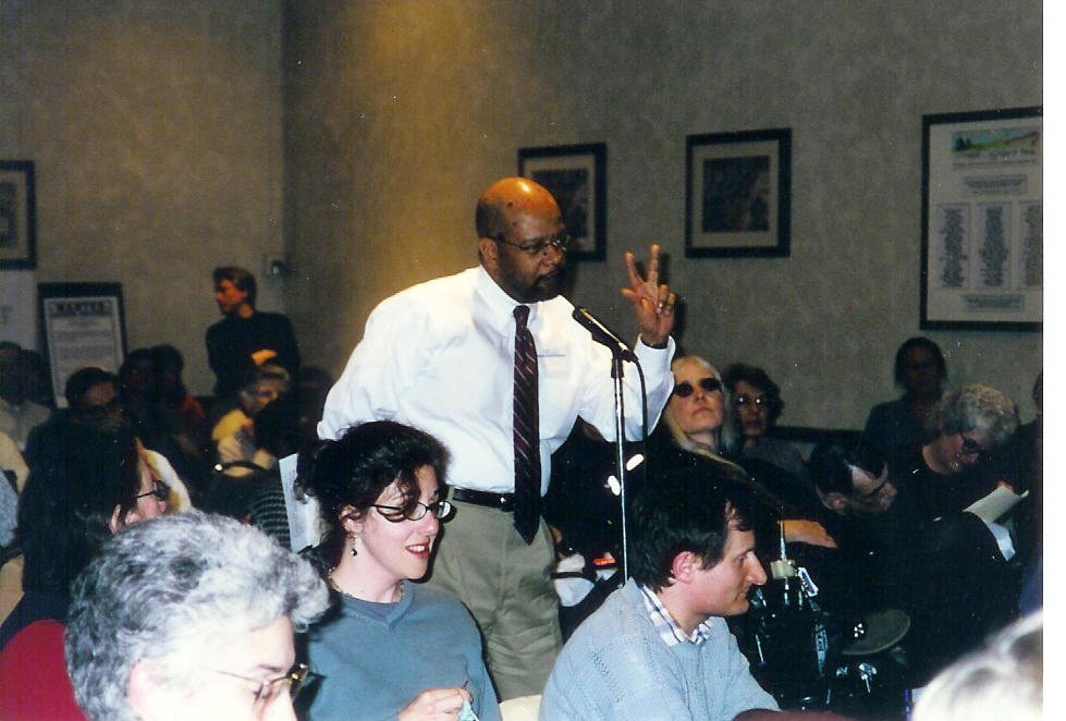 """(1999 - 2006) Expecting a crowd of 75 and instead attracting 175, residents from throughout the northern suburbs converged on St. Francis Xavier Church, Wilmette at this North Suburban Housing Partners forum to talk about the dire problem of """"minimum wage jobs but no minimum wage housing."""""""