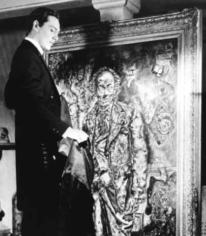 From the 1945 film of the Oscar Wilde novel,  The Picture of Dorian Gray