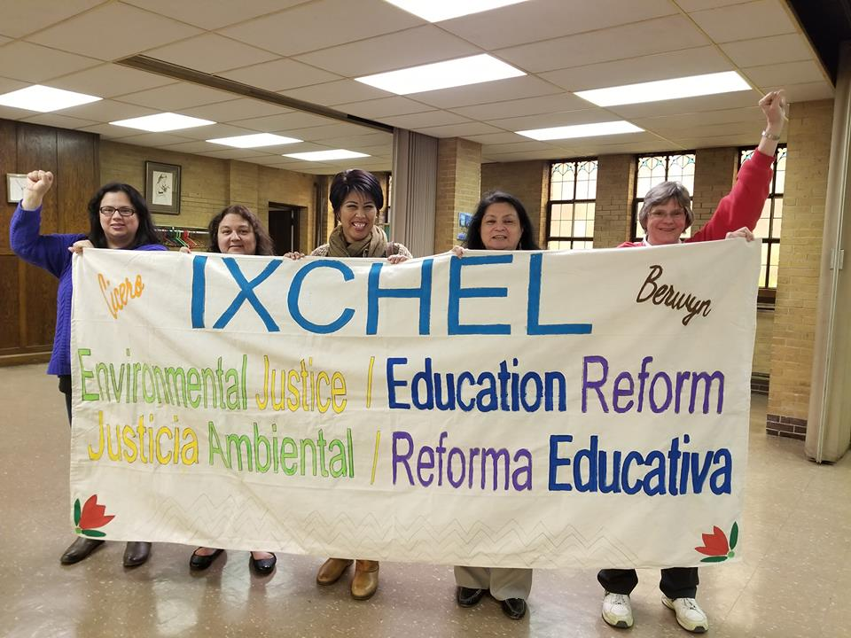 Ixchel is a grassroots group founded in 2012 by mothers and grandmothers in Cicero and Berwyn, determined to dismantle structural racism. They are primarily focused on education and environmental justice. I am writing grants for them so they can grow in their community organizing capacity.