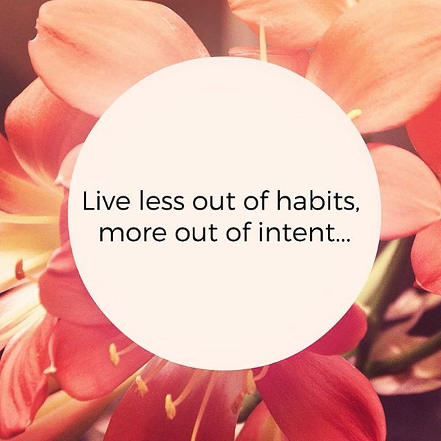 Hello Monday! What are you doing differently today? Remember to live life less out of habits and more out of intent 😻 #intentions #hope #life #decisions #week #monday #tiossan