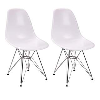 Mod Made Paris Tower Side Chair with Chrome Legs (Set-of-2).  Image via Overstock.com.