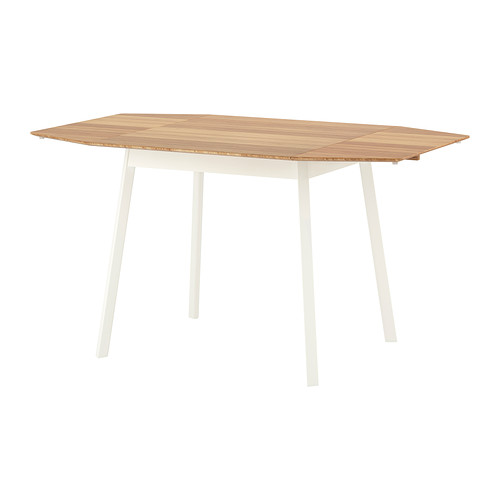 IKEA PS 2012 Drop Leaf Table in Bamboo/White. Image via IKEA.