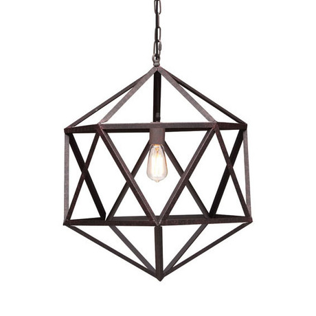 Geometric Ceiling Lamp.  Image via Dot + Bo.