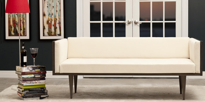 The Mid Century Modern Couch via Urban Green Furniture. Image Source: Urban Green Furniture