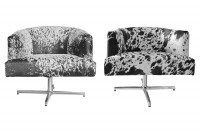 HD BUTTERCUP COWHIDE CHAIRS via Viyet.  Image Source: Viyet
