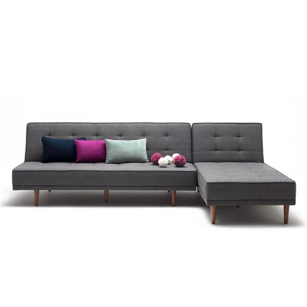 LAZZONI L SECTIONAL SOFA BED IN GREY via AptDeco.com. Image Source: AptDeco