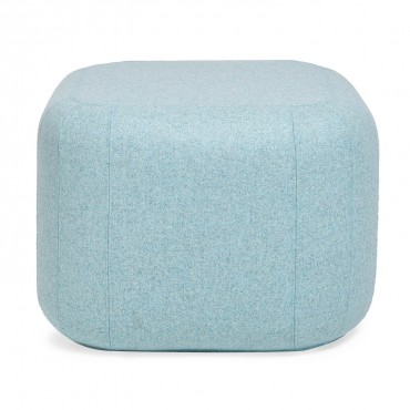 Sleek pastel ottoman. Image Source: ABC Carpet & Home
