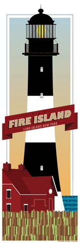 Fire Island Lighthouse Print. Image Source: I Lost My Dog
