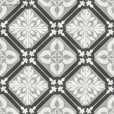 Source: Cement Tile Shop - Calais II Tile  (12 8x8 tiles per box = $82.80, Est. for 1,100 sq. ft. / ~209 boxes = $17,305.20)