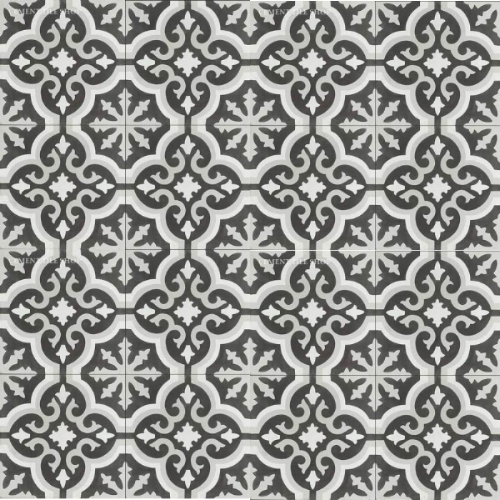 Source: Cement Tile Shop - Bordeaux III Tile (12 8x8 tiles per box = $82.80, Est. for 1,100 sq. ft. / ~209 boxes = $17,305.20)