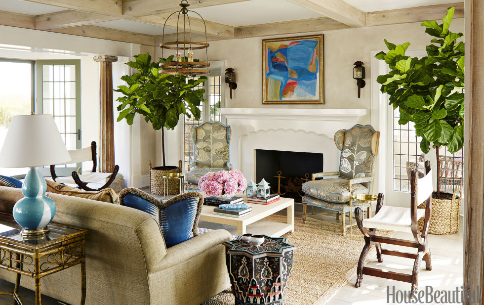Another bohemian dream, this beach house is owned by a founder of Anthropologie - and you can clearly see the brand's inspiration throughout the home.  Bright colors, bold patterns, unique tile and tons of of texture are a few of the reasons why we had fun paging through this house tour and why we recommend you give it a quick look too.  Source:  House Beautiful