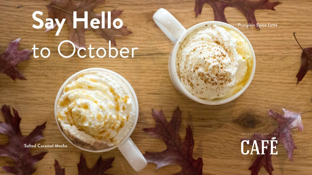 Pumpkin Spice Latté and Salted Caramel Mocha