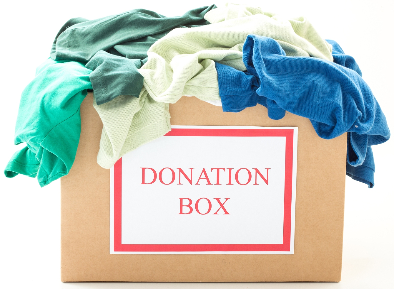Image result for boxes for donation and trash