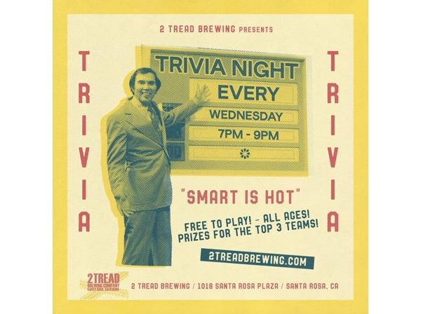 Grab your friends, put your smart caps on and head down to 2 Tread Brewing to enjoy a night of Trivia.