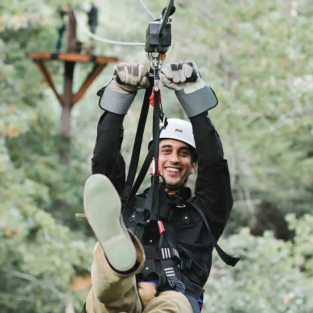 Book your zip-lining Eco-Tour exploring picturesque Coastal Redwoods. Pick from a treetop, forest flight or night flight tour.