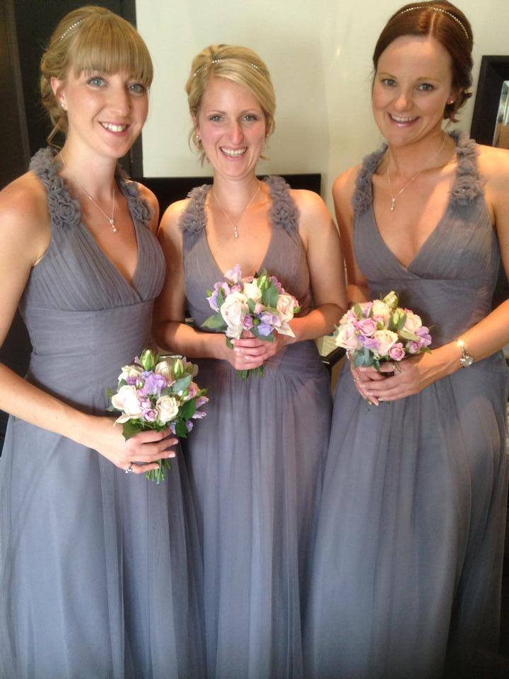 Our lovely Lizzie Claytons gorgeous maids, looking fabulous in Alfred Angelo Tulle Bridesmaids dresses
