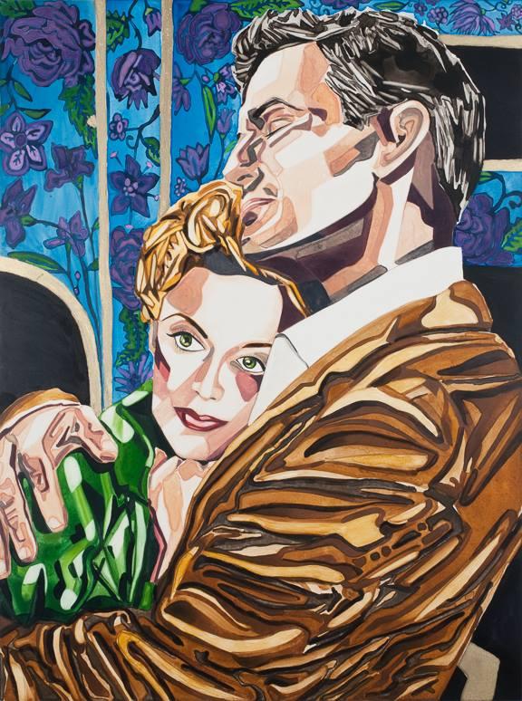 "Embraced   24"" x 18""   watercolor on board   ©Annika Connor"