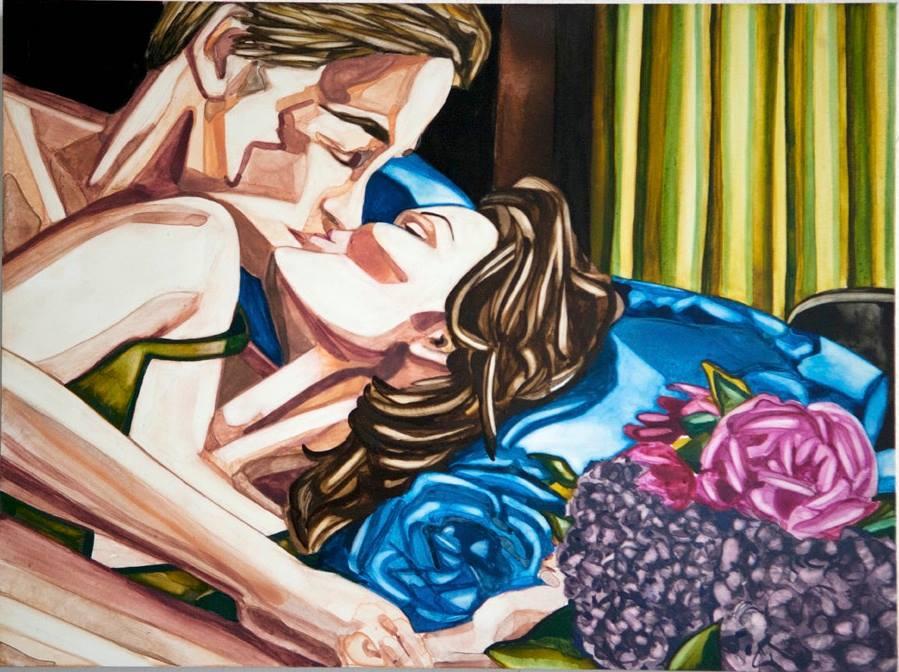 "Daybreak   9"" x 12""   watercolor on board   ©Annika Connor"
