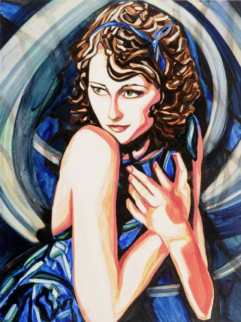 "Zelda   12"" x 9""   Watercolor on board   ©Annika Connor"