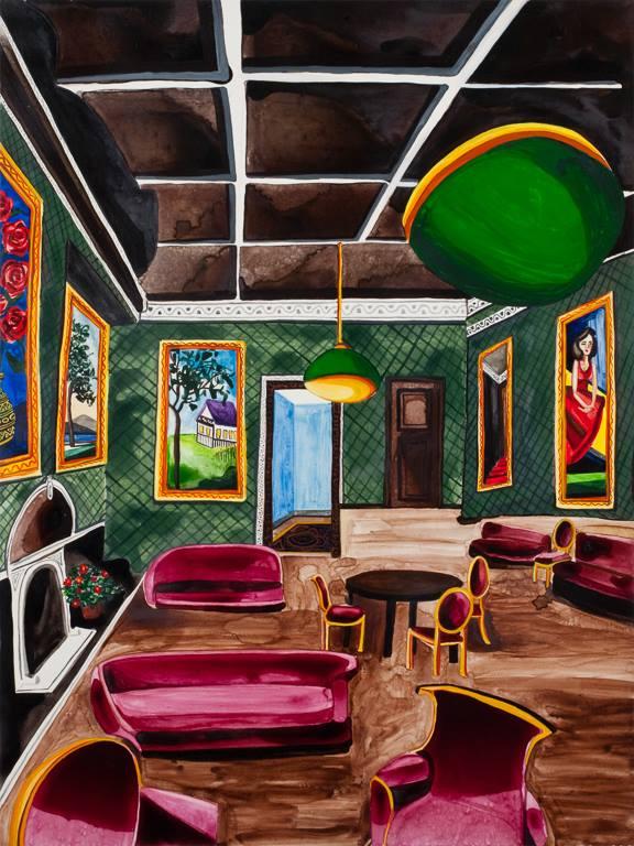 """The Green Studio   24"""" x 18""""   watercolor on board   ©Annika Connor"""