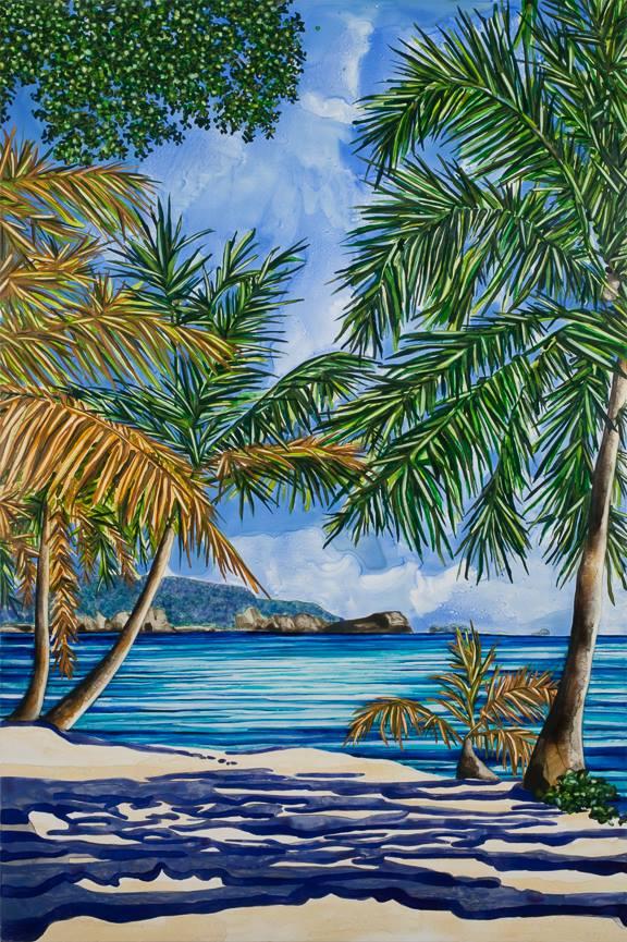 """Lagoon   36"""" x 24""""   watercolor on board   ©Annika Connor"""