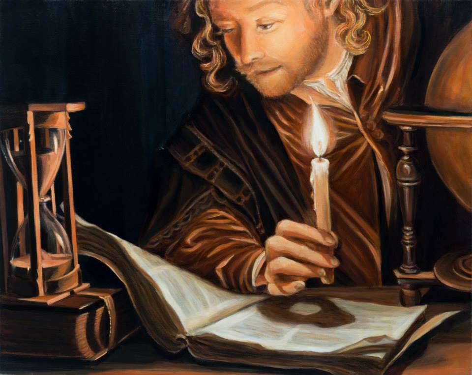 "The Astronomer   16"" x 20""   oil on linen   ©Annika Connor"