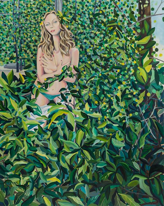 "Sylvia   60"" x 48""   oil on canvas   ©Annika Connor"