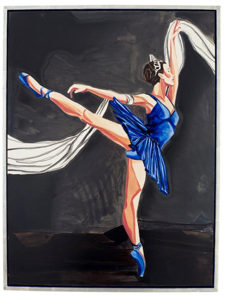 "Ballet Blue   Watercolor   24"" x 18""    ©Annika Connor"