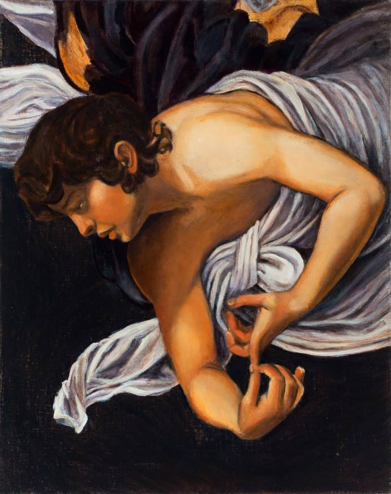 "Caravaggio Interpretation   Oil on Linen   20"" x 16""    ©Annika Connor"