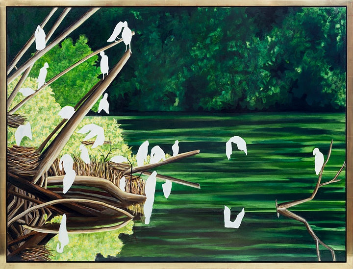 "Harbingers   Oil on Canvas   54"" x 72"""