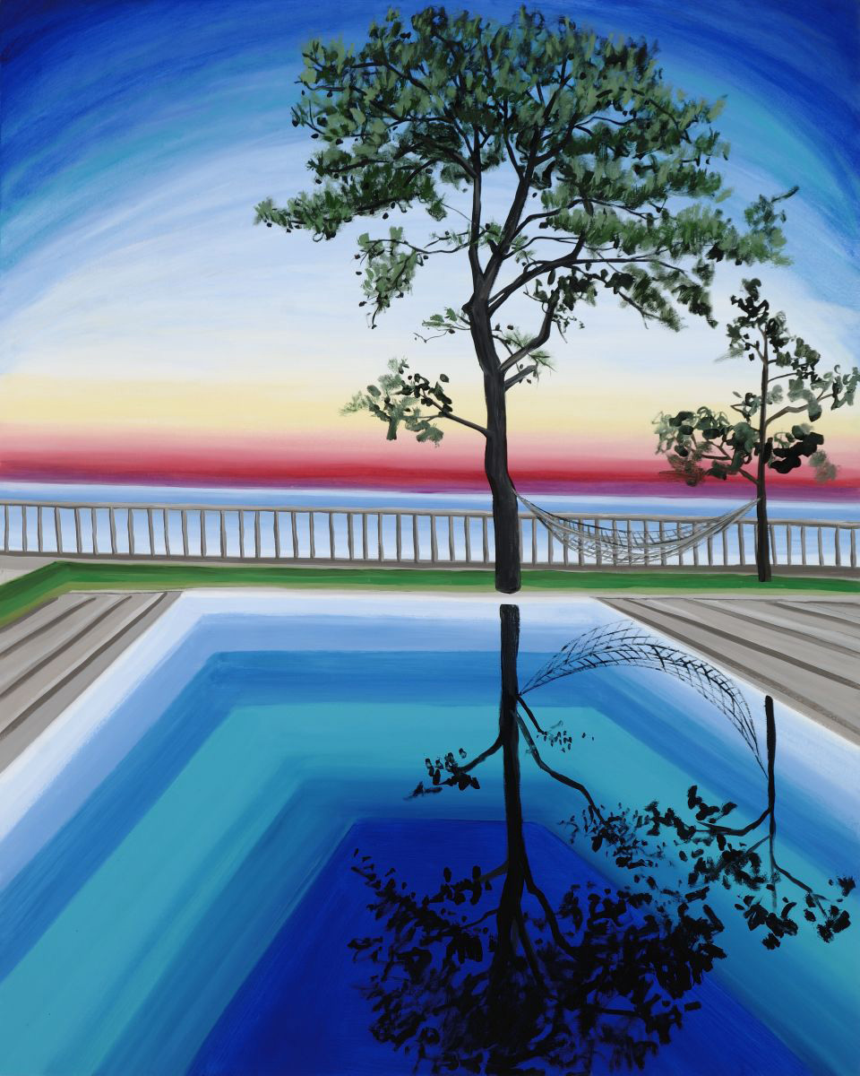 "Peter's Tree   60"" x 48""   oil on canvas   ©Annika Connor"