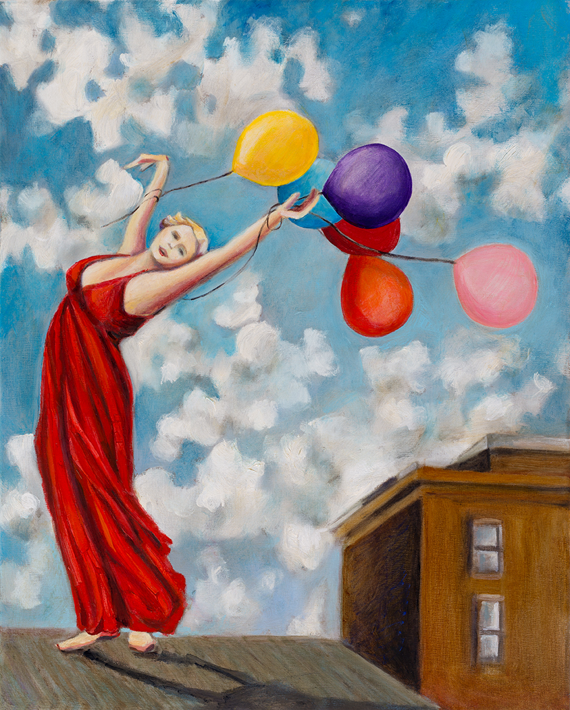"I'll Fly Away   20"" x 16""   Oil on Linen   ©Annika Connor"